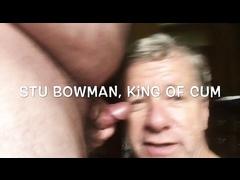 Stu the Cocksucker Taking Bukkake Cum Facials